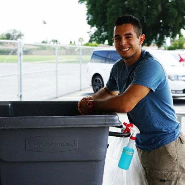Our friendly maintenance staff always ensures our campus is clean and ready to go each school day!