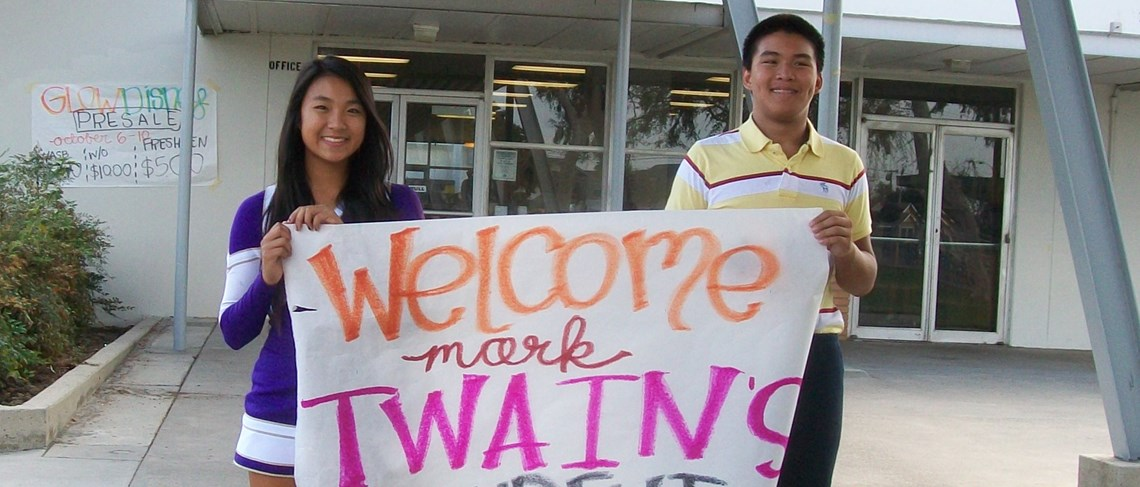Santiago High School welcomes Mark Twain scholars!